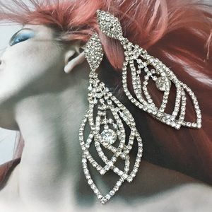 Rhinestone Chandelier Special Occasion Earrings